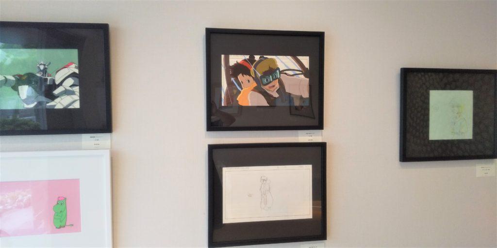 天空の城ラピュタのセル画とレイアウト。TVアニメ版新世紀エヴァンゲリオン(原画)など。